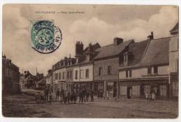 """"""" NEUFCHATEL - Place Saint-Pierre """" TRES RARE - 1907 - Neufchâtel En Bray"""
