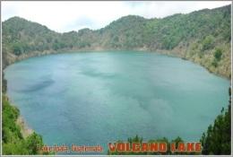 Lake Ipala, Guatemala. Volcano Lake Postage Card 3268-16 - Postkaarten