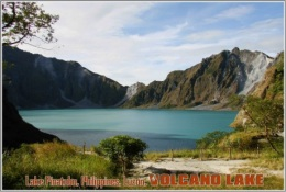Lake Pinatubo, Philippines, Luzon. Volcano Lake Postage Card 3268-16 - Postkaarten