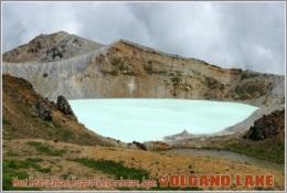 Mount Kusatsu-Shirane, Kusatsu, Gunma Prefecture, Japan. Volcano Lake Postage Card 3268-16 - Postkaarten