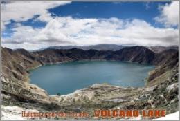 Quilotoa Crater Lake, Ecuador. Volcano Lake Postage Card 3268-16 - Postkaarten