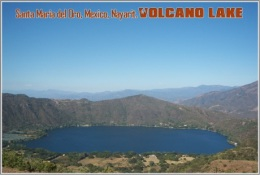 Santa Maria Del Oro, Mexico, Nayarit. Volcano Lake Postage Card 3268-16 - Postkaarten