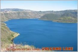 The Cuicocha Crater Lake, Ecuador. Volcano Lake Postage Card 3268-16 - Postkaarten