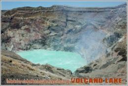 The Nakadake Crater On The Mount Naka In The Aso Caldera, Kumamoto Prefecture, Japan. Volcano Lake Postage Card 3268-16 - Postkaarten