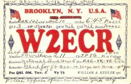 QSL POSTAL DE RADIO AFICIONADO DE BROOKLYN, N.Y. EN USA DEL AÑO 1933 - Tarjetas QSL