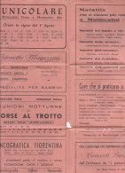 PO0181D# PUBBLICITA' CON ORARIO FUNICOLARE DA MONTECATINI TERME A MONTECATINI ALTO Anni '30/GIARDINO COLLODI - KURSAAL - Europa