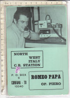 PO0261D# CARTE QSL - RADIO - NORTH WEST ITALY C.B.STATION - CUMIANA TORINO 1974  No VG - CB