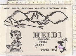 PO0270D# CARTE QSL - ITALIAN RADIO STATION C.B. - HEIDI LECCE 1978   No VG - CB