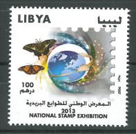 LIBYA 2013 MNH - NATIONAL STAMP EXHIBITION - Butterfly - Stamp Day - Libië