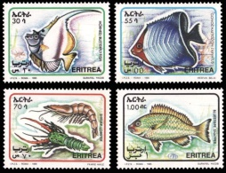 (004) Eritrea  Fish / Poissons / Fische / Marine Life / Vie / Wassertiere  ** / Mnh  Michel 51-54 - Eritrea