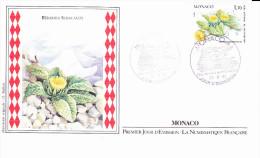 MONACO, Bérardia Subacaulis, Bérarda, Mercantour, Alpes, Dessin O. Baillais, FDC, 23/05/1985 - FDC