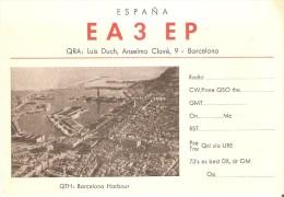 QSL POSTAL DE RADIO AFICIONADO DE LUIS DUCH EN BARCELONA (HARBOUR) - Tarjetas QSL