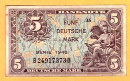 ALLEMAGNE - 5 DEUTSCHE MARK TYPE 1948 - 5 Mark