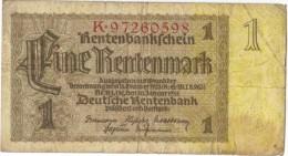 Germany   1  Rentenmark 30 Januar 1937 - [ 4] 1933-1945 : Tercer Reich