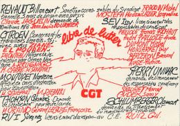 Syndicat - Carte Pétition CGT - Libre De Lutter - Syndicats