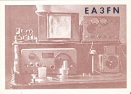 QSL POSTAL DE RADIO AFICIONADO DE JOSE Mª VILA DE BARCELONA DEL AÑO 1950 (ESPAÑA) - Tarjetas QSL
