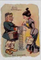 Chromo - Chocolat Poulain Goutez Comparez - Facteur - Parfumerie. - Format 12,7 Cm Par 9 Cm Env.. (voir Scan). - Ohne Zuordnung