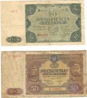 20 And 50  Zloty  Polen. - Polonia