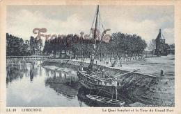 (33) Libourne - Le Quai Souchet Et La Tour Du Grand Port - 2 SCANS - Libourne