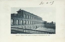 FIRENZE - PALAZZO   PITTI - VIAGGIATA - 1909 - FRANCOBOLLO ASPORTATO - DATA  SCRITTA  SUL  DAVANTI  A PENNA - Firenze (Florence)