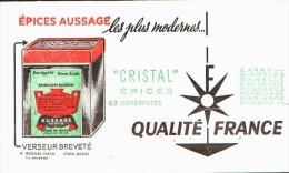 "-BUVARD - AUSSAGE ""CRISTAL EPICES""  TTBE - Food"