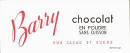 -BUVARD - Chocolat BARRY   état LUXE - Food