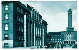 Mähr.OSTRAU - Palast Der Montan Und Hüttengesellschaft Und Neues Rathaus, Gel.194? Als Feldpost - Böhmen Und Mähren
