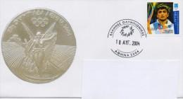 GREECE (A)FDC GREEK COMMEMORATIVE POSTMARK- ATHENS 2004:OLYMPIC WINNERS- 18/8/04 - Verano 2004: Atenas