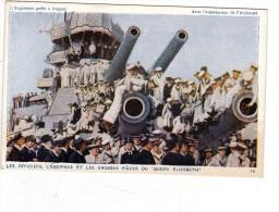L Angleterre Prete A Frapper  Marine Royal Navy Ww1 Officiers Et Equipage Grosses Pieces Du Queen Elizabeth Tres Animée - Guerra 1914-18