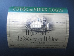 ETIQUETTE DE VIN (M64) MUSCADET DE SèVRE Et MAINE (2 Vues) Cuvée Du Vieux Logis - Pierre Brevin - Vino Blanco