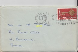 Enveloppe Timbrée Avec Document - Irlande