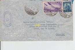 Timbres Sur Enveloppe     Pour Arras  Imperial War Graves Commission  Rome - Italie