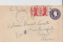 Timbres Sur  Enveloppe  Pour Paris - Stati Uniti