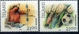 ISLANDE 1990 YVERT  N°681/82 LUXE ** MNH - 1944-... Republic