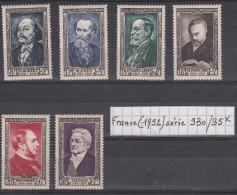 France (1952) Y/T Série 930/935 Neufs * à 15% De La Cote - Francia
