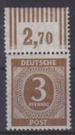 Kontrollrat Mi. 913y Vom Oberrand Gp. Schlegel BPP - Postfrisch - Zone AAS