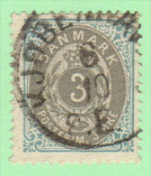 DEN SC #25  1875 Numeral, CV $15.00 - Used Stamps