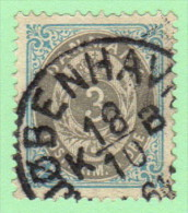 DEN SC #25c  1875 Numeral Inverted Frame, CV $16.00 - 1864-04 (Christian IX)