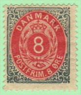 DEN SC #28 MH (Partial Gum)  1875 Numeral - 1864-04 (Christian IX)