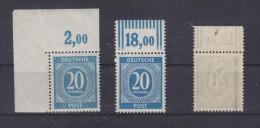Kontrollrat Mi. 924P Und W Und 924b W (gp. Arge) Postfrisch Vom Oberrand - Zone AAS