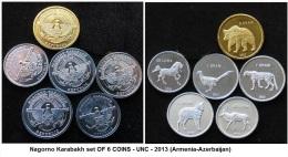 Nagorno Karabakh Set OF 6 COINS - UNC - 2013 (Armenia-Azerbaijan) -AGOUZ