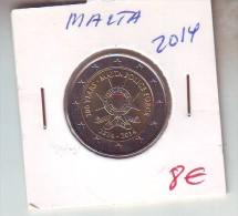 MONEDA EURO  MALTA 2 E 2014 SIN CIRCULAR - Malte