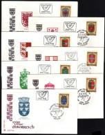 ÖSTERREICH 1976 - Wappen Der Bundesländer - 7 FDC - Briefe U. Dokumente