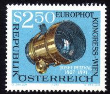 ÖSTERREICH 1973 ** Europhot Kongress / Objektiv V. Josef Petzval - MNH - Fotografia