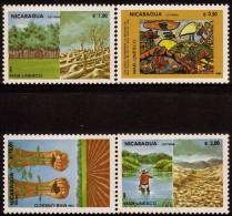 Nicaragua UNESCO Nature Conservation Sc 1378-1381 MNH 1984 - Nicaragua