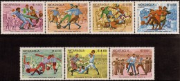 Nicaragua 1986 World Cup Soccer Championship Mexico Sc 1395-1401 MNH 1985 - World Cup