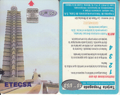CUBA - ETECSA First Issue(reverse B), Used - Cuba