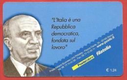 TESSERA FILATELICA ITALIA - 2008 - Centenario Della Nascita Di Amintore Fanfani - 6. 1946-.. Repubblica