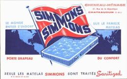 -BUVARD -   Matelas SIMMONS    état LUXE - Wash & Clean
