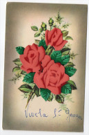 Fantaisie-Fleur(rose)-carte à Système Sur Petits Morceaux De Cartons Amovibles-Vive La St Georges--grains De Givre-n°682 - A Systèmes